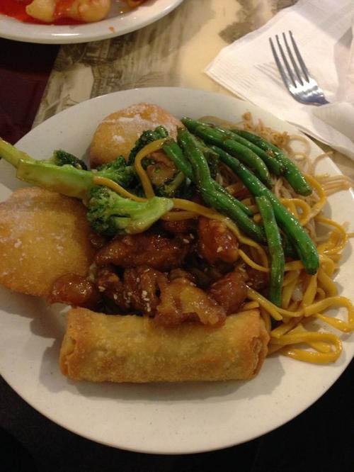 food from buffet at Golden Buffet in Benbrook, TX