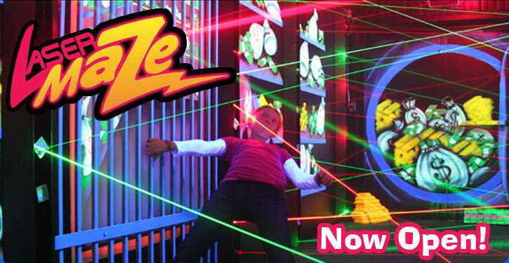 Laser tag and the Laser maze is now available at Milpitas Golfland.