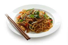 Pan-fried noodle with beef & vegetable in Gaithersburg MD