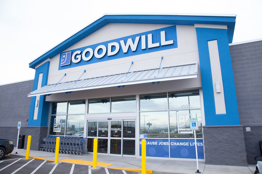Exterior of a Goodwill store in Washington state