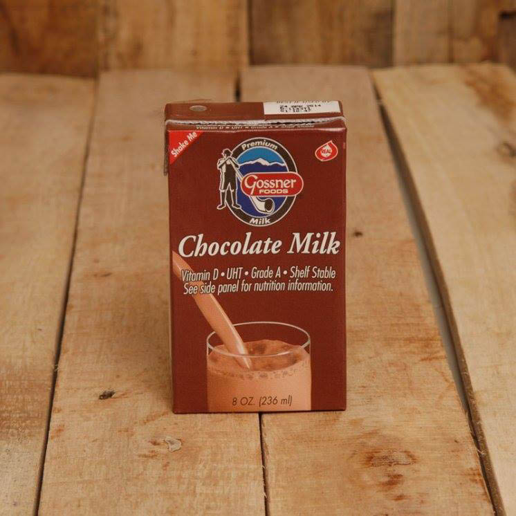 Shelf Stable Chocolate Milk Sold Online by Gossner Foods.