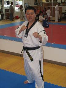 Grand Master Kwon at Grand Master Kwon's Taekwondo Academy in Tacoma, Washington