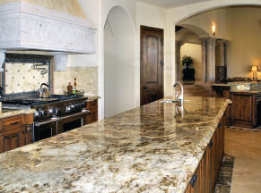 Long granite countertop