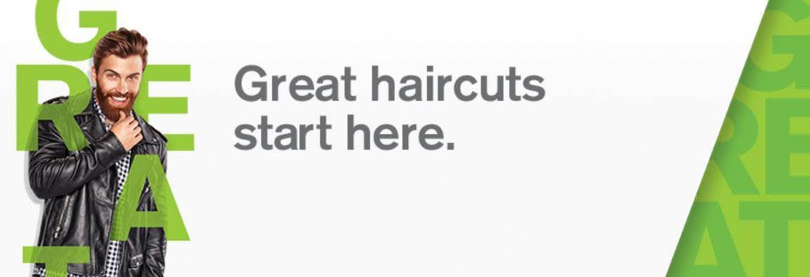 Stylish men's haircuts from Great Clips banner