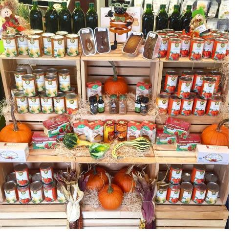 Pumpkin season items at Green Life Market in Andover NJ