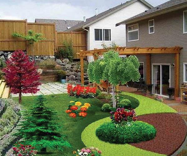 Backyard landscape & hardscspe