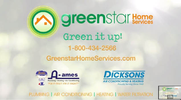 Make Greenstar Home Services your first choice for plumbing, air conditioning, heating and water filtration
