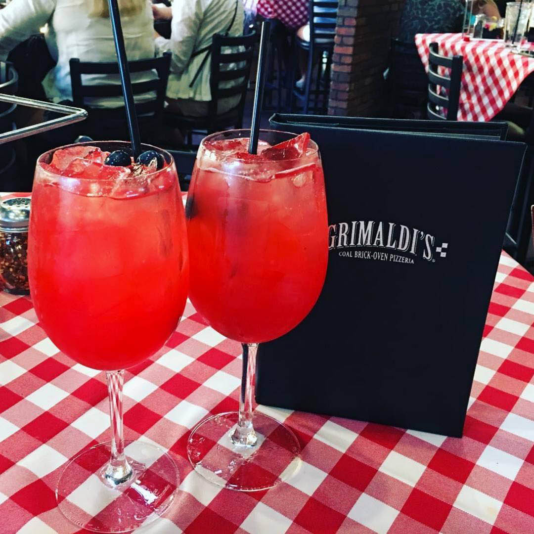 Cold beverages from Grimaldi's, NYC