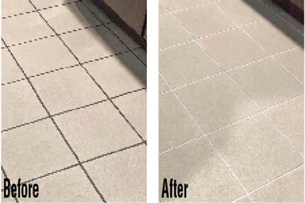 new grout color in a Palm Beach County home