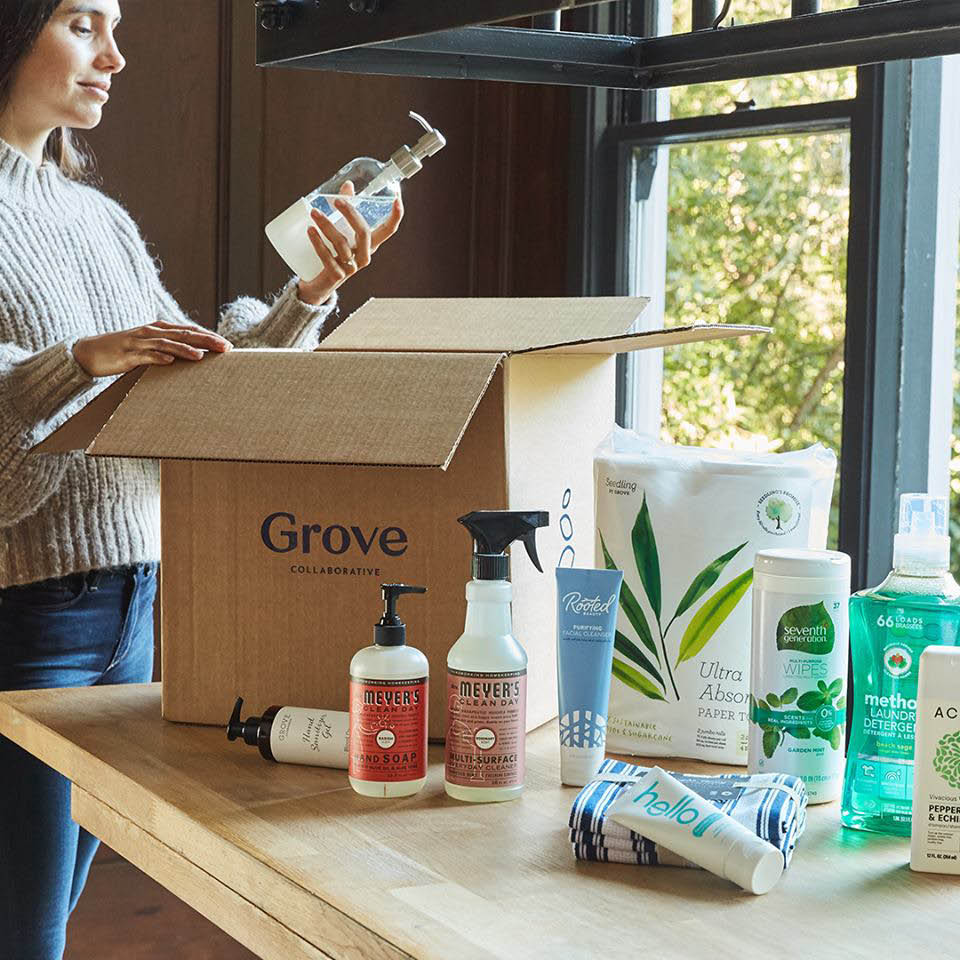 Care package for your home - Mrs Meyer's cleaning set from Grove Collaborative