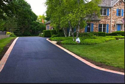 photo of driveway completed by Guru Services in Commerce, MI