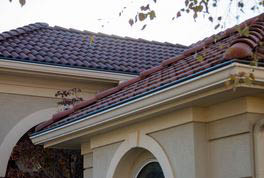 Tile roof gutter covers