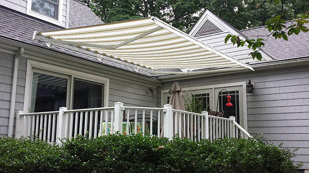 gutter helmet has awnings and retractable awnings.