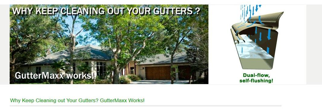 Guttermaxx in Dallas, TX  banner ad
