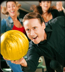 Bowling, Gold Ball, Bowing Ball, Man, Happy, Competitive, Game,