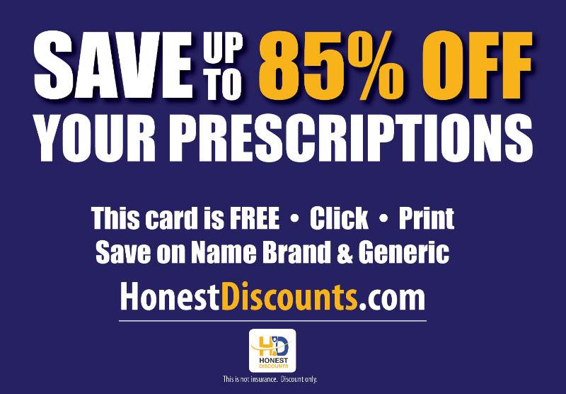 Honest Discounts, Prescription Savings, rx savings, medical discounts, medication savings,HD, Save on prescription drugs, prescription discounts, free rx card, pharmacy savings,save up to 85% on prescriptions,honest