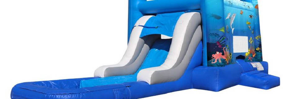 Big Orca Water Slide Inflatable banner