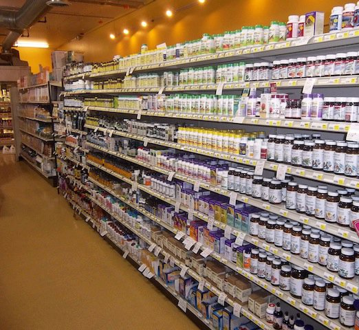 Harvest Natural Foods stocks hundreds of vitamins and nutritional supplements