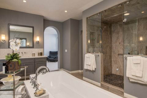 Master bathroom remodeling by Hackett