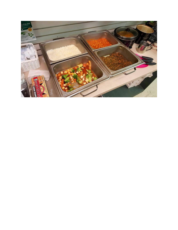 Gluten-Free Buffet available at Hackettstown Health Foods in Hackettstown NJ