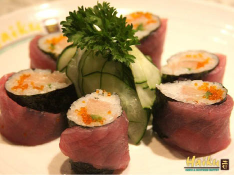 Haiku Sushi & Seafood Buffet in Redmond, WA offers a wide selection of sushi made fresh every day