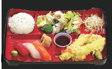 Lovely Bento Boxes make the perfect combination meal
