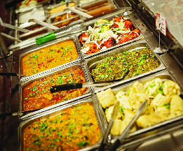 Lunch Buffet offers a variety of delicious Indian foods