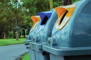 Get your dirty trash cans and recycling containers cleaned and disinfected by the pros at Happy Containers. Our mobile self-contained cleaning system eliminates dirt, odors, and bacteria in an environmentally friendly way.