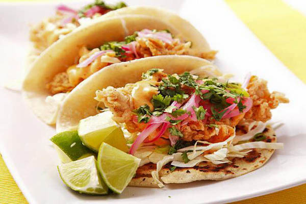Harry Buffalo Fish Tacos
