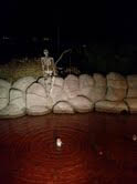 Skeleton Fishing in Pond at Eagle Lake Golf Course in Weber County, Utah