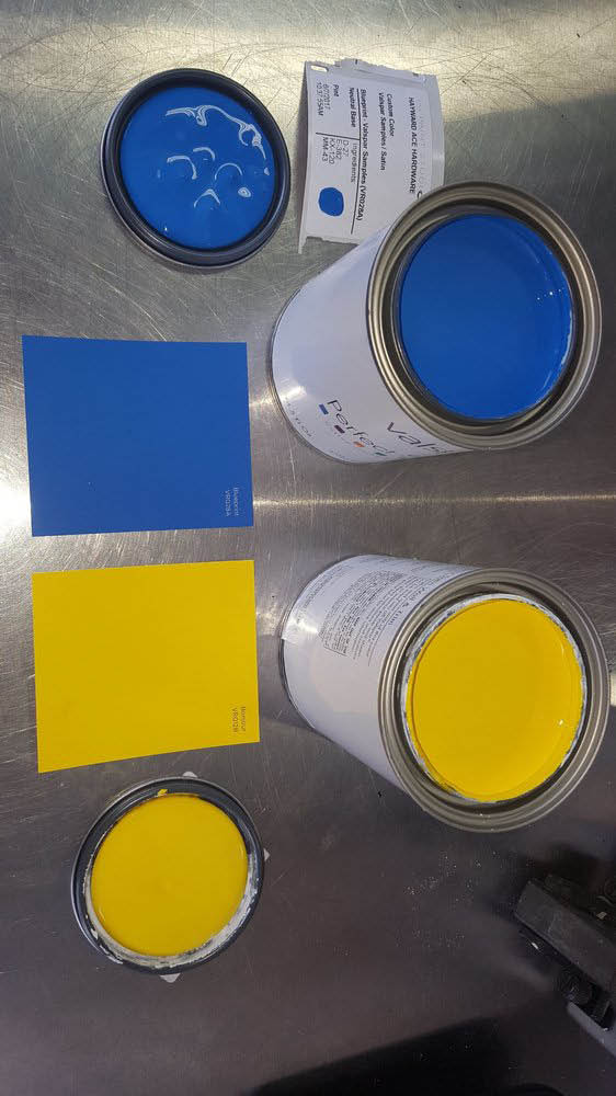 Full service brand name paints and paint products department