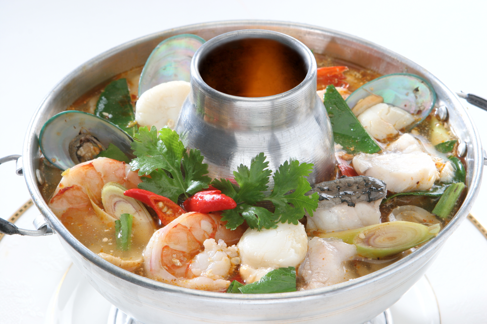 Thai seafood medley near Castaic Junction