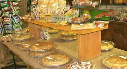 Homemade pies available at Heaven Hill Farm in Vernon NJ