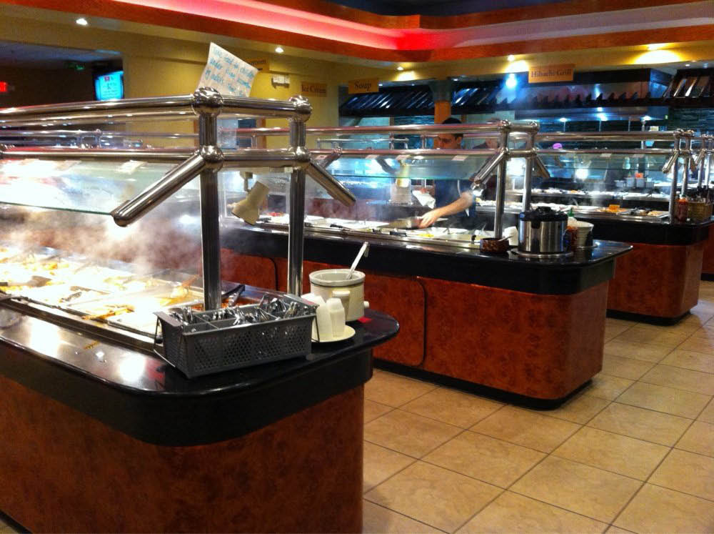 Hibachi Buffet & Sushi offers many buffet lines