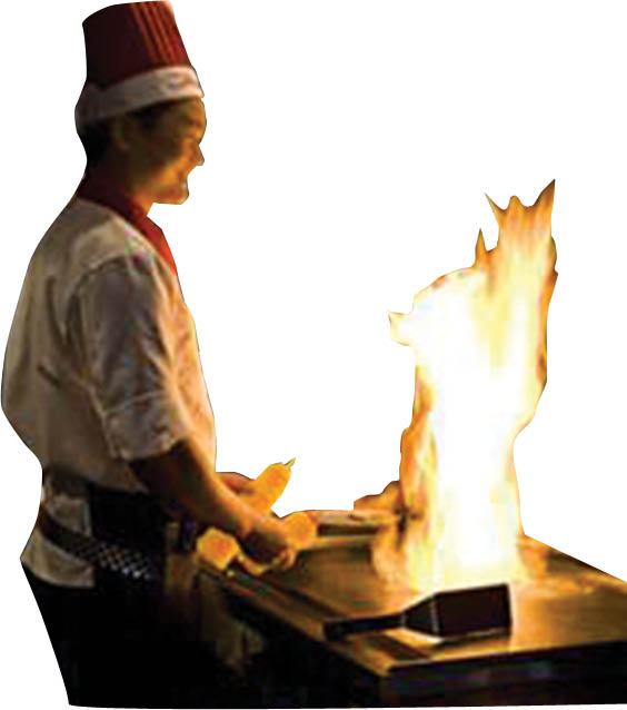 Order your favorite dish cooked tableside from our Hibachi grill