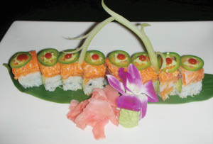 Sushi with fresh fish and tender rice