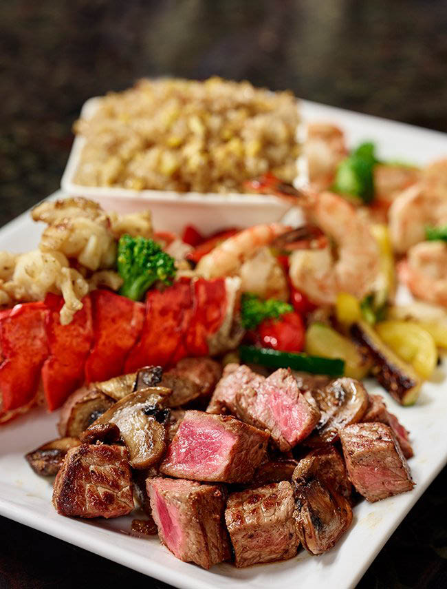 We combine the best of hibachi and teppanyaki cooking styles.