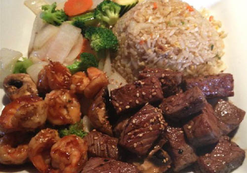 Food from hibachi grill, near Prior Lake, MN