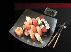 Elegantly plated sushi rolls, sushi & sashimi order at Hikari Sushi Glendale, CA