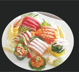 Beautifully presented sashimi plate in Glendale, CA