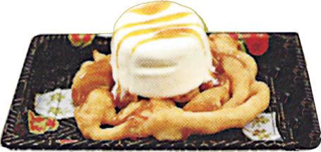 funnel cake with ice cream SOBE Sushi Express; South Beach, Miami; Miami Beach, FL
