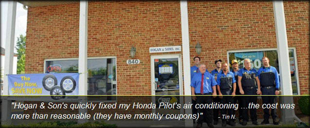 Trust the friendly staff at Hogan & Sons Purcellville to offer brake service