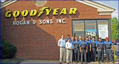Our Leesburg car repair center sells Goodyear, Firestone, Dunlop and BFGoodrich tires
