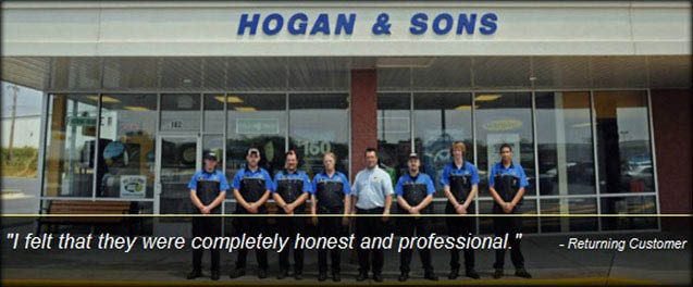 tire service and auto repair at Hogan & Sons Winchester; 8 auto shops in Northern Virginia; brake pads; brake shoes; brakes inspection