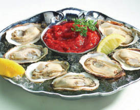 Oysters on the half shell served at New Buffet.