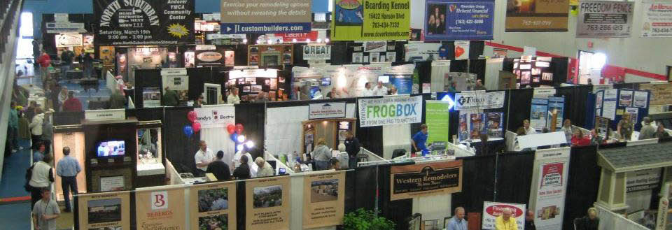 Exhibits and display areas at the home improvement show photo banner