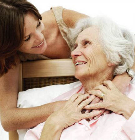 photo of woman helping an older relative representing Home Help Care Providers in Lincoln Park, MI