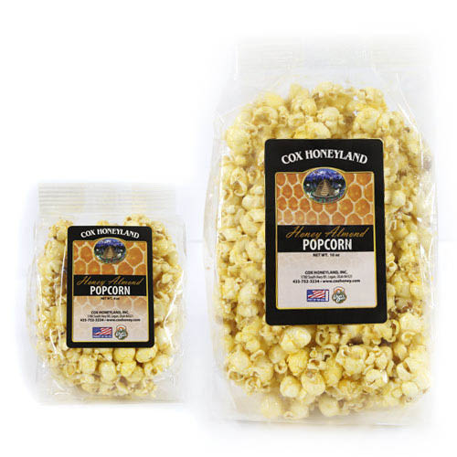 Honey Almond Popcorn. Order online or purchase at our store in Logan, Utah.