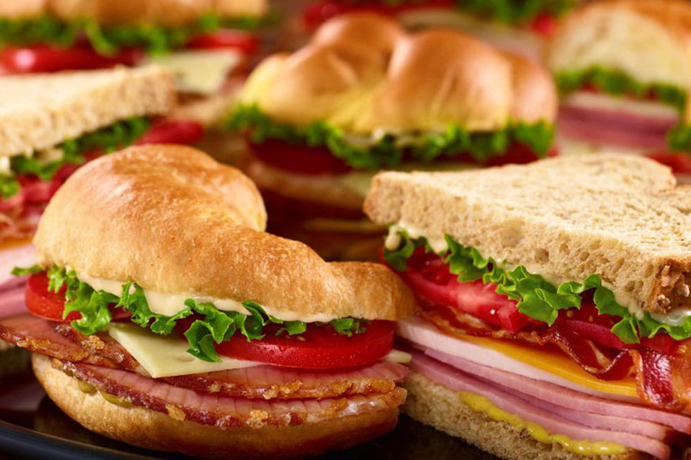 sandwiches from honeybaked ham