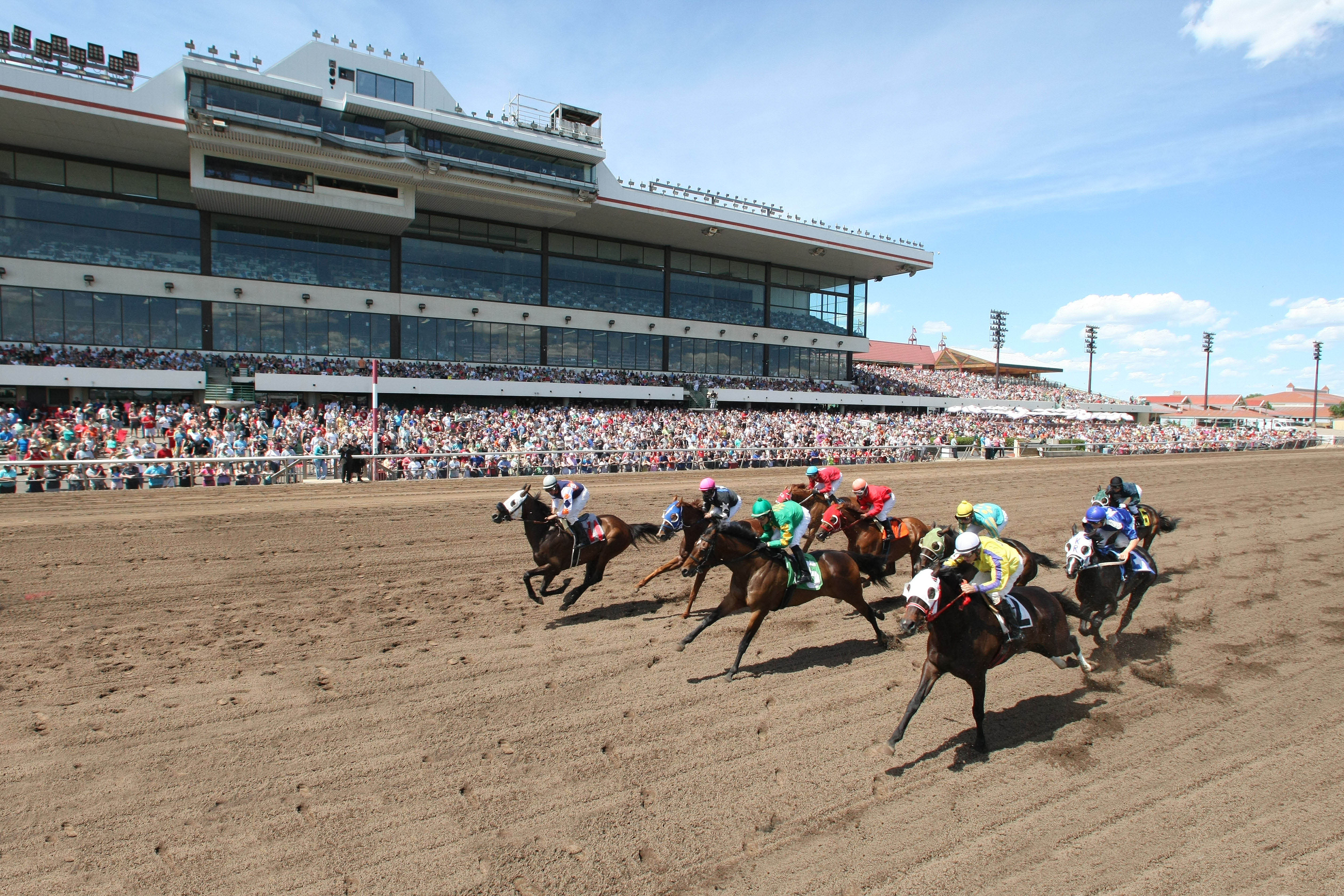 Live Horse Racing Crowd at Canterbury Park in Shakopee, MN